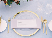 Place Setting At An Outdoor Wedding Reception