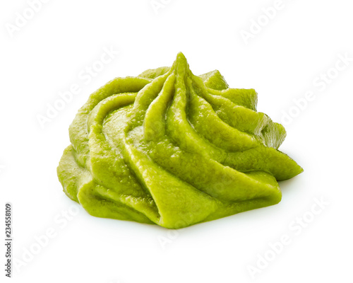 Canvas Print Wasabi isolated on a white background.