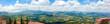 Panaramic view from San Marino city to hills of San Marino.