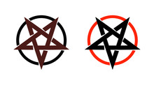 Satan Star, Pentagram Symbol O...