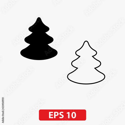 Fototapety, obrazy: Christmas tree icon. Vector