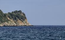 Albenga, Liguria, Italy. July 2018. The Gallinara Island