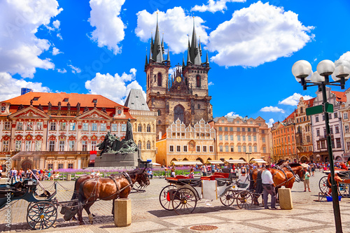 Aluminium Prints Central Europe Old Town Square in Prague