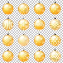 Set Of Christmas Balls With Or...