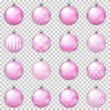 Set Of Christmas Balls With Or...