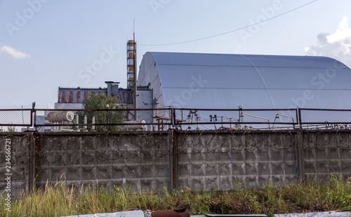 Reactor 4 at the Chernobyl nuclear power plant with a new