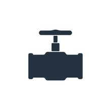 Pipe Valve Isolated Icon On Wh...