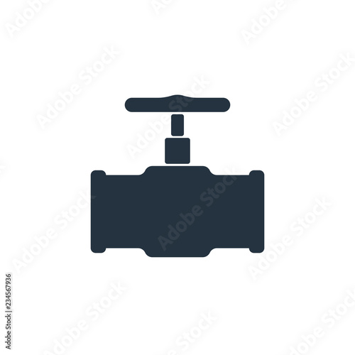pipe valve isolated icon on white background, oil industry Wallpaper Mural