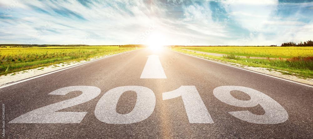 Fototapety, obrazy: Vorwärts ins neue Jahr 2019!