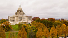 Providence Rhode Island Fall Color Trees Changing Capitol State House