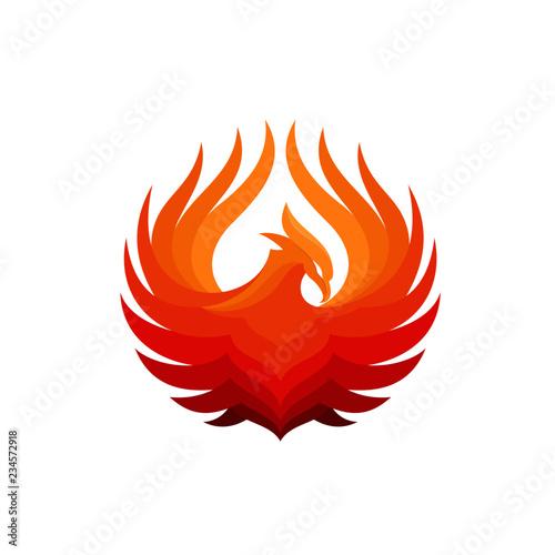 Photo  Luxury Phoenix Logo Template