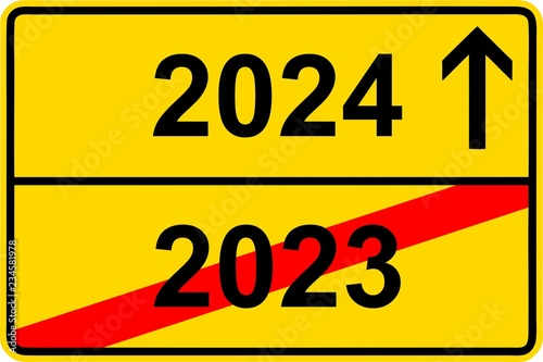 Fotografia  181120-Ortsschild-Jahreswechsel-2023-2024