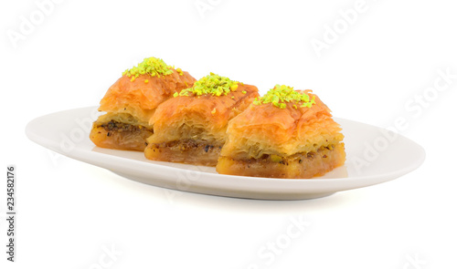 Photo Traditional Turkish Baklava with Pistachio