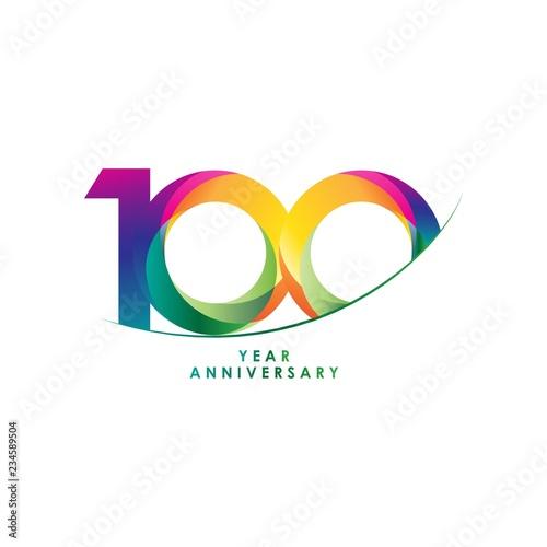 Fotografía  100 Year Anniversary Vector Template Design Illustration