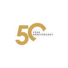 50 Year Anniversary Vector Tem...