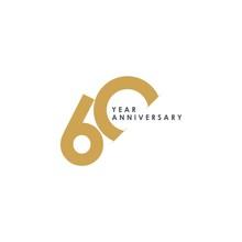 60 Year Anniversary Vector Tem...