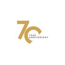 70 Year Anniversary Vector Tem...