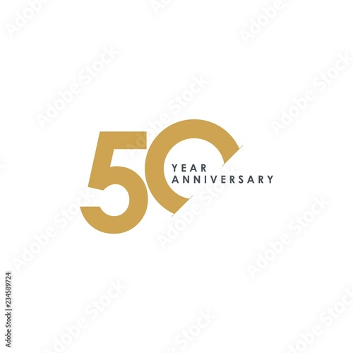 Photo  50 Year Anniversary Vector Template Design Illustration