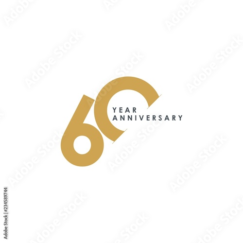 Fotografia  60 Year Anniversary Vector Template Design Illustration