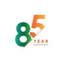 85 Year Anniversary Vector Tem...