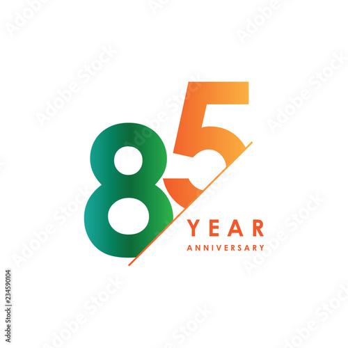 Fotografía  85 Year Anniversary Vector Template Design Illustration