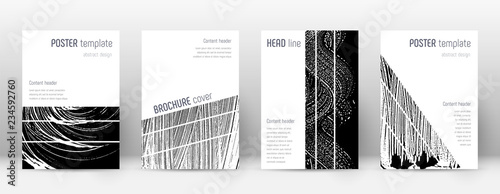 Obraz Cover page design template. Geometric brochure lay - fototapety do salonu