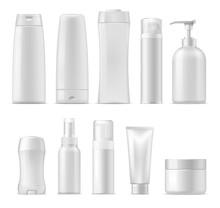 Cosmetic Vector Plastic Package Mockups
