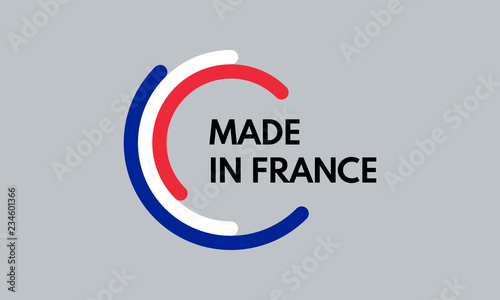 made in france, 3 colors arcs vector logo