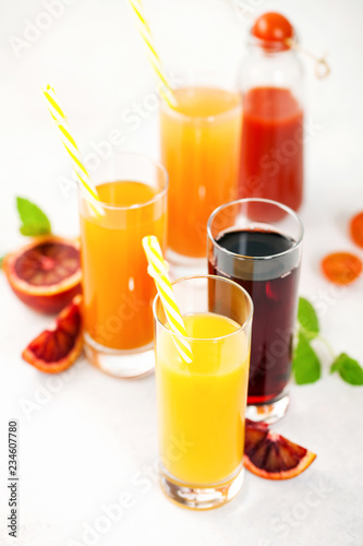 Various vegetable and fruit juice
