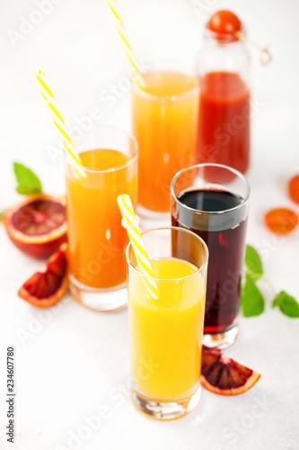 Fotobehang Sap Various vegetable and fruit juice