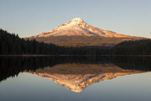 Mount Hood At Sunset With Its ...