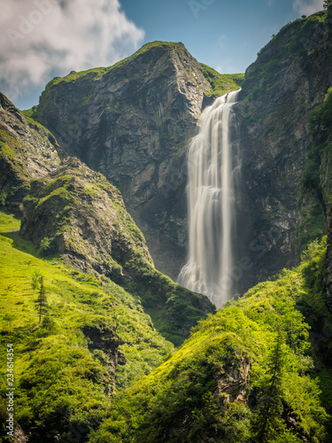 The Schleier waterfall at the Hintersee in Mittersill Salzburg - 234614354