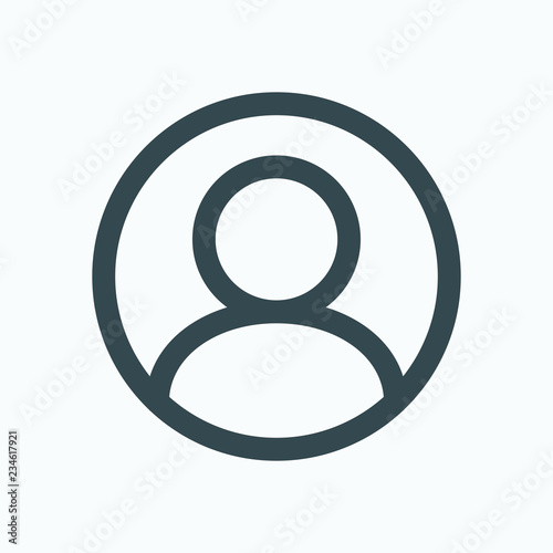 Photo User account icon, user in circle vector icon