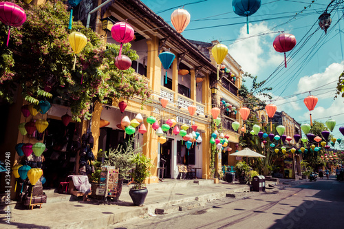 Hoian Ancient town houses Canvas Print