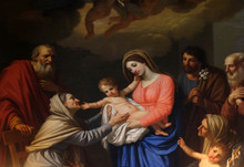 Saint Anne Adores The Child By...