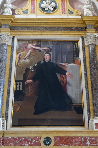 Saint Aloysius Gonzaga, altarpiece in Mantua Cathedral dedicated to Saint Peter, Wallpaper Mural
