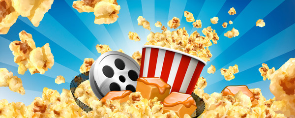 Caramel popcorn banner ads