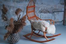 Rocking Chair In The Studio With Decor