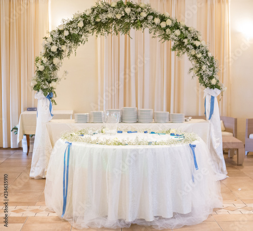 Wedding Cake Table With Flowers Decoration Buy This Stock Photo And Explore Similar Images At Adobe Stock Adobe Stock
