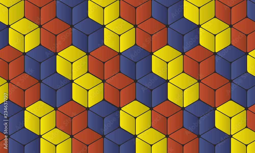 Fototapeta Cubes 3D imbriqués