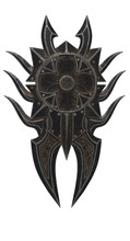 Fantasy Black Shield With Spik...