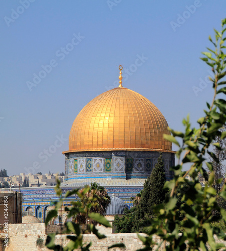 Fotografia  View over the Dome of the rock in Jerusalem