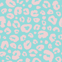 Leopard Skin Print Seamless Pattern Background. Animal Fur Spot Abstract Camouflage Texture.