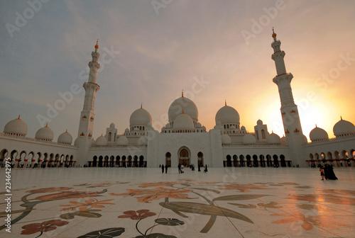 white Nosque of Abu Dhabi