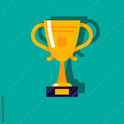 Fototapety, obrazy: gold cup vector sign symbol modern flat outline