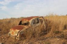 Abandoned Old Vintage Car On H...
