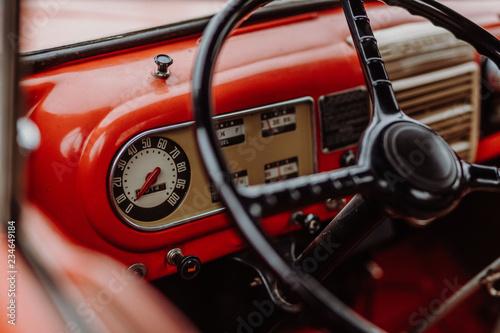 Fototapeta Ford F6 Feuerwehr Oldtimer