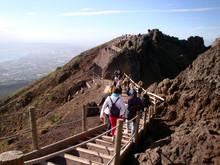 Abstieg Vom Vesuv