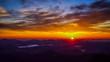 日本、中国山地の絶景、掛頭山からの雲海と朝日