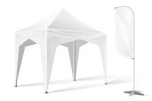 Vector Outdoor Exhibition Tent Pop Up Marquee Mock